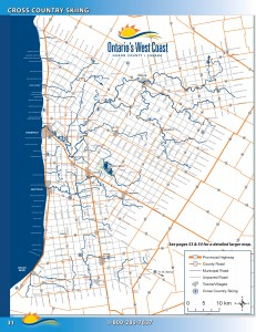 Huron County Ski Map