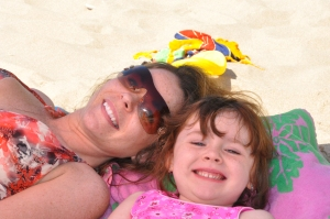Shawna and Hilary at the beach in PA