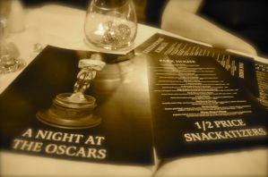 Oscar party decor at the Parkhouse in Goderich