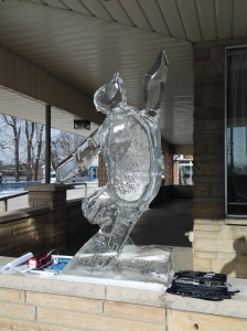 Ice Sculptures at the Grand Bend Winter Carnival 2013.
