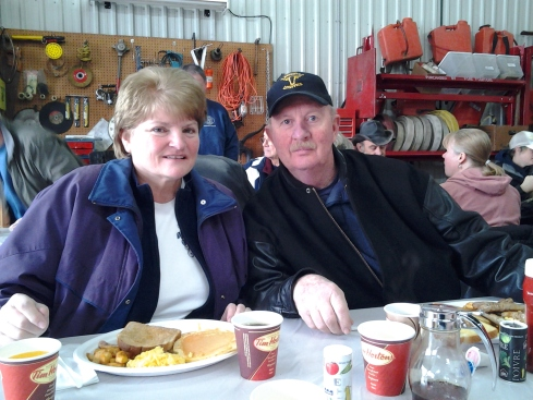 Jim & Eleanor enjoy the Pancake Breakfast hosted by at the Grand Bend Winter Carnival 2013
