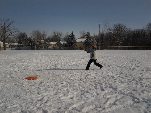 More Winter Fun -- Snow pitch at the Grand Bend Winter Carnival 2013