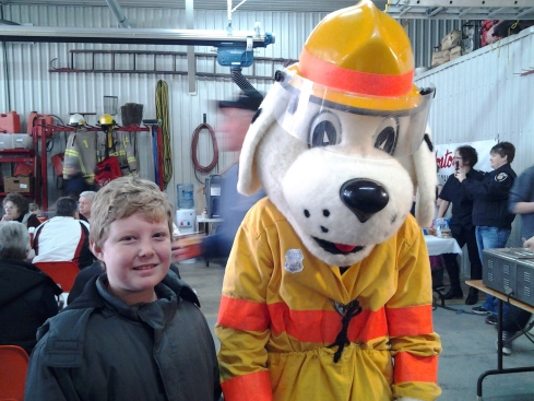 Sparky visits the Grand Bend Winter Carnival.