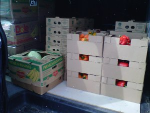 The Good Food Boxes ready for Delivery