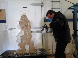 An Ice Carver demonstration at IceCultures in Hensall.