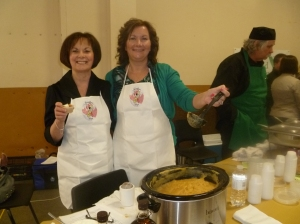 Colleen Elliott & Brenda Wheeler of Freedom Syrup serve Rutabaga and Maple -