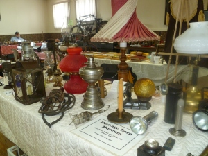 all types of lights displayed by the Heritage Barn Museum of Kirkton.