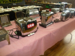 Toasters of all shapes and sizes.