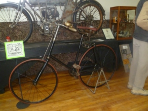 An 1865 Gormully & Jeffery Company Rambler from the Carl Burgwart Collection, owned by Rick Wolfe of Primative Cycles, Komoka.