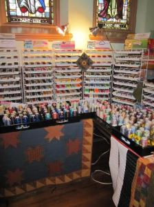 Quilting products and accessories for sale.
