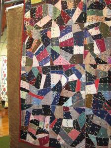 "This is a ""crazy quilt"" which refers to the crazy patchwork."