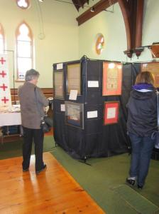 Visitors viewing the items on display.