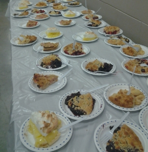 You'll always find yummy desserts being served a community dinners in Huron County.  Home-made pie is one of the most popular.