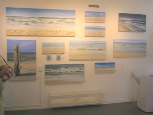 Beach landscapes on canvas by Martina Bruggerman