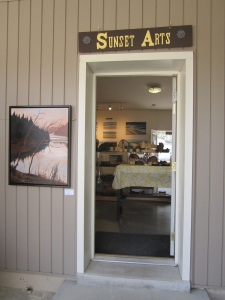 Rear entrance to Sunset Arts Gallery