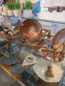 Pottery on display by Nancy Marshall