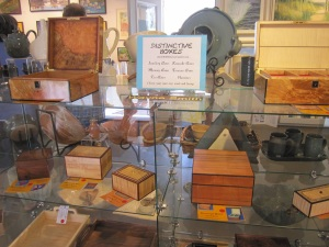 Hand carved boxes by Wayne Smith