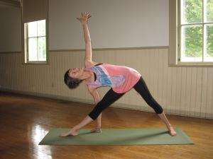 Jennifer Reaburn led the yoga class