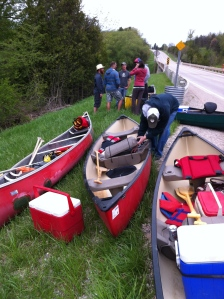 Getting ready to canoe