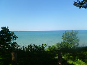 Lake Huron from Pioneer Park in Bayfield