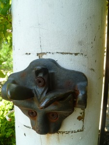 latch on the garden gate, a  feature from the past on the historical Gordon House