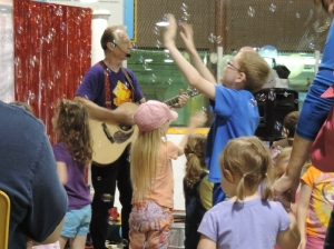 Erick Traplin entertained at the Children's Festival, Goderich