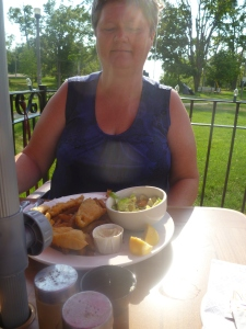 Sherry enjoyed deep fried yellow fish fillets and home-cut french fries