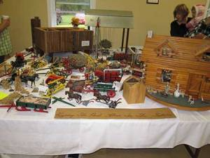 Miniature farm display at Ciderfest