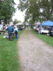 Some of the vendors lined along the grounds of the Van Egmond House