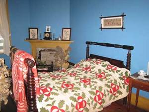 One of the bedrooms in the Van Egmond House