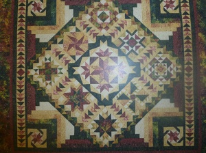Wendy's Block of the Month squares will come together at the end of the year to make this beautiful quilt.