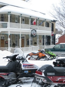 The Albion is a popular spot for snowmobilers.