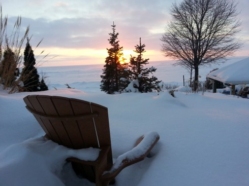 Lovely sunset over Lake Huron (photo courtesy of Anthony Sitko)