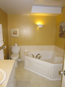 Ensuite bathroom with whirlpool tub