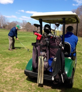 A group of regulars of the Maitland course enjoy getting back into the game.