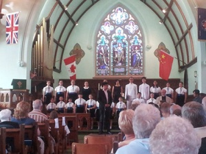 Angel Voice Choir from Beijing performed in Trivitt Anglican Church in Exeter