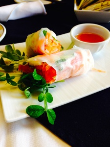 The summer fresh rolls.