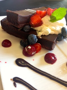 A deliciously rich brownie