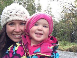Harper and I in front of the Belgrave Creek