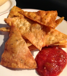 Must Try: Homemade tortilla chips and salsa from the salad bar.