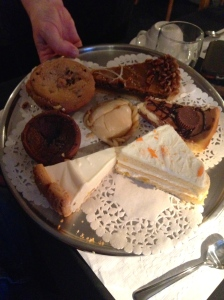 The smorgasbord of desserts that The Fireside Cafe offers. Decisions, decisions!