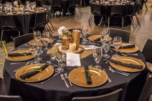 The tables were beautifully decorated for the event. Photo by Rob Boyce, Your Life in Stills.