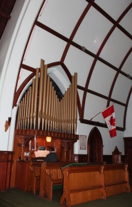 Dr. Richard Heinzle, organist and music director of Trivitt Memorial Anglican Church, hosts a lunchtime concert every Friday through Lent.