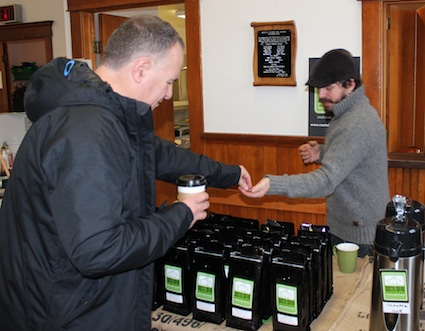 The smell of freshly ground coffee from Coastal Coffee Company assails every visitor at the Goderich Makers Market.