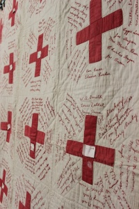 World War I Red Cross quilt.