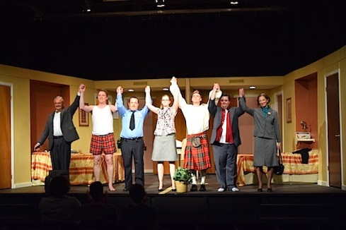 The cast takes a much deserved bow at the end of the dress rehearsal.