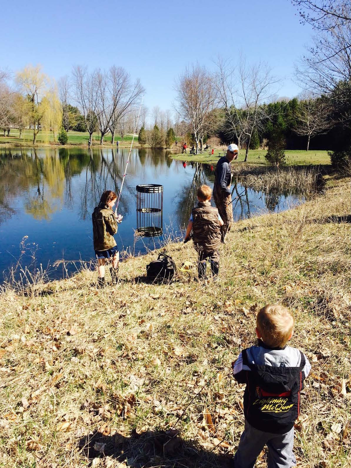 Stocked pond provides hours of family fun ontario travel for Stocked fishing ponds