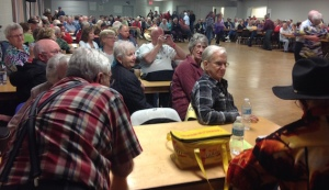 There was standing room only at the Jam Session Thursday night in Blyth. Photo by Gord Baxter.