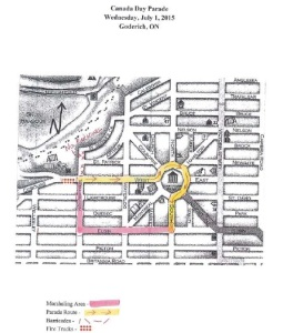Goderich parade map