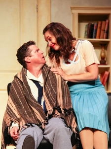 Photo Credit: Kevin Kruchkywich and Daniela Vlaskalic in Last Chance Romance, 2015 Photographer: Darlene O'Rourke